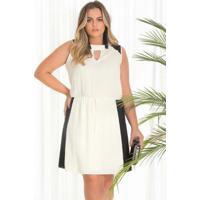 3b042861dc Home Vestuário Vestidos Crepe Off White