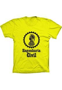 Camiseta Baby Look Lu Geek Engenharia Amarelo