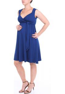 81eb153dad Vestido A Gestante Curto Amamentação Azul Marinho