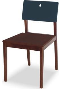 Cadeira Flip Cor Cacau Com Encosto Marinho - 31136
