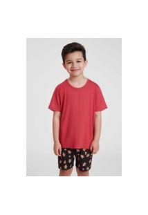 Pijama Infantil Recco De Viscose Stretch E Malha Touch