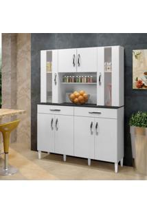 Armário De Cozinha 8 Portas 2 Gavetas Arte Móveis Branco