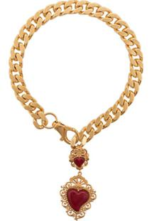 Dolce & Gabbana Colar Com Pingente De Coração - Dourado