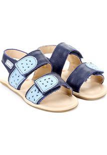 Sandália Papete Infantil Bibi Feminina - Feminino-Jeans