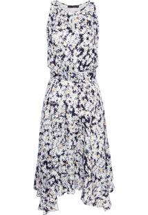 Vestido Assimétrico Margaridas Leeloo - Preto