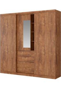 Guarda-Roupa Aries Com Espelho - 2 Portas - Native