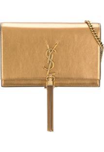 Saint Laurent Clutch Kate - Dourado