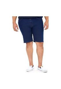 Bermuda Masculina Basica Over Jeans Escuro Polo Wear Jeans Preto