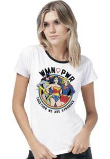 Camiseta Bandup! Dc Comics Wmn Pwr - Feminino-Branco