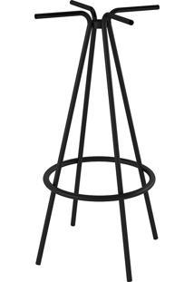 Base De Mesa Pedestal Bar Pintado Pp0102-Pozza - Preto
