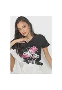 Camiseta Forum Never Too Late Preta