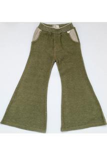 Calça Mini Lady - Alexa Menina - Verde Militar - Tricae