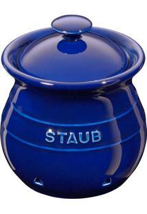 Porta Alho Cerâmica Azul Marinho Staub