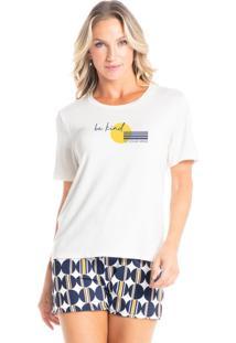 Pijama Curto Estampado Isadora