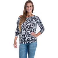 468ba225f Blusa Animal Print Zebra feminina   Shoes4you