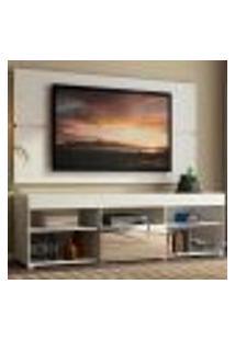Rack Com Painel Para Tv Até 65 Polegadas Madesa Dublin 1 Porta Com Espelho - Branco