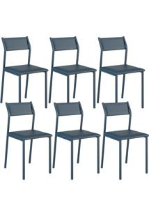 Cadeira 1709 Color Uv 06 Unidades Azul Noturno Carraro