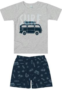 Pijama Cinza Claro Kombi Filho
