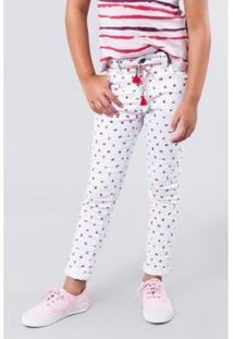 Calça Pinturinhas Reserva Mini Feminina - Feminino-Branco