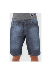 Bermuda Jeans Fatal Slim Estonada Azul