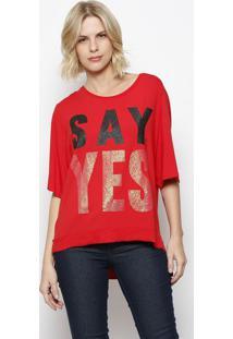 Camiseta ''Say Yes''- Vermelha & Dourada- Coca-Colacoca-Cola