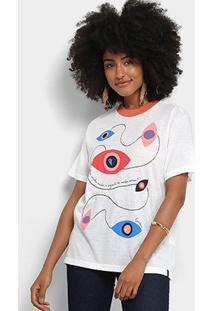 Camiseta Cantão Estampa Verbo Amar Feminina - Feminino