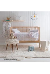 Edredom Baby Fofis- Branco & Rosa Claro- 100X140Cm