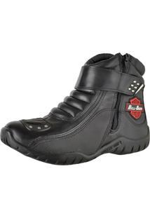 Bota Motoqueiro Em Couro Bell-Boots Preta