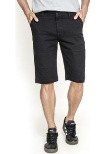 Bermuda Sarja Lemier Collection Slim Color Get Fashion Masculina - Masculino-Preto