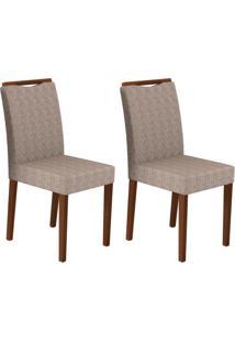 Conjunto Com 2 Cadeiras Munique Amêndoa E Cinza