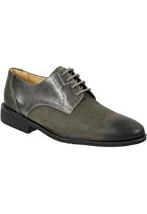 Sapato Social Sandro & Co. Moscolini Masculino - Masculino-Cinza