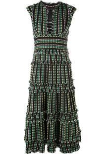 Proenza Schouler Vestido De Tweed Com Amarração - Preto