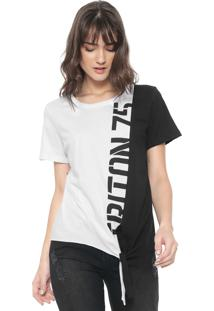 Camiseta Triton Amarração Branca/Preta