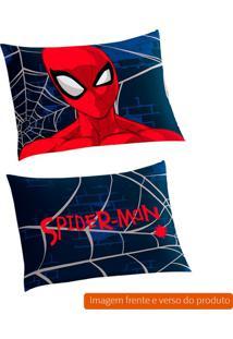 Fronha Infantil Spider Man Algodão Azul Marinho