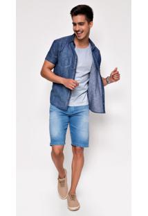 Bermuda Jeans Zait Arnaldo Azul Marinho