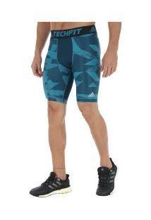 d28876cd91 Bermuda De Compressão Adidas Techfit Ci Gx - Masculina - Azul Azul Claro