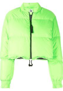 Bacon Bubble Neon Puffer Jacket - Verde