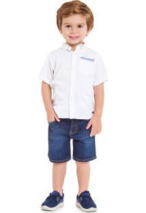 Camisa Manga Curta Milon Branco