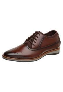 Sapato Oxford Masculino Malbork Couro Meia Interna 1102 Tabaco