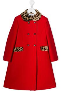 Dolce & Gabbana Kids Casaco Com Detalhe Animal Print - Vermelho