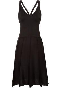 Vestido Tricô Evasê - Preto