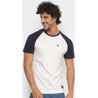 72121a5f9f38a Camiseta Quiksilver Raglan Everyday Masculina - Masculino-Branco