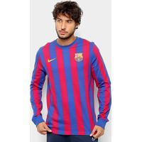fd06de2ac8efa Camiseta Barcelona Retrô Manga Longa Nike Masculina - Masculino