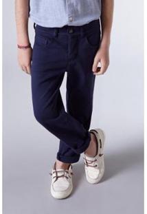 Calça Mini 5 Pockets Moletom Reserva Mini Masculina - Masculino-Marinho