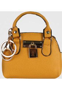Porta Moedas Chaveiro Mini Bag Le Postiche (Marfim, Único)