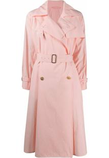 Max Mara Trench Coat Falster Com Cinto - Rosa