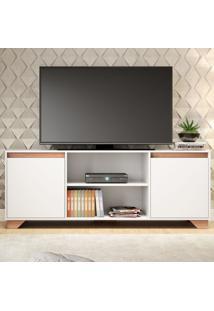 Rack Para Tv Até 50 Polegadas Benevello 2 Portas 2031 Branco - Quiditá Móveis