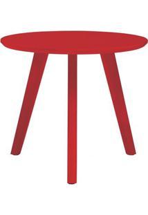 Mesa Lateral Paint Baixa Vermelho Acetinado 45 Cm (Alt) - 50980 Sun House