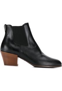 Hogan Ankle Boot Com Recorte - Preto