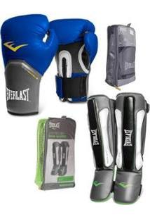 Kit Everlast Luva Pro Style Elite + Caneleira Prime Isoplate Technology - Unissex